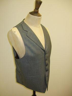 Bespoke Wedding Waistcoat1 Tailor made waistcoat in Taylor & Lodge fabric
