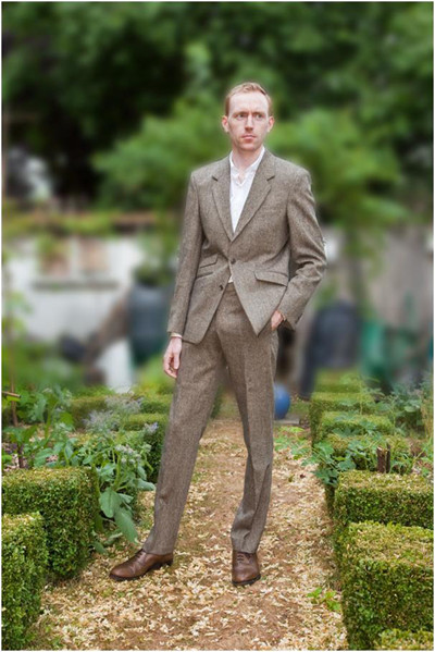 Marcus Harris Tweed suit by Henry Herbert Tailors