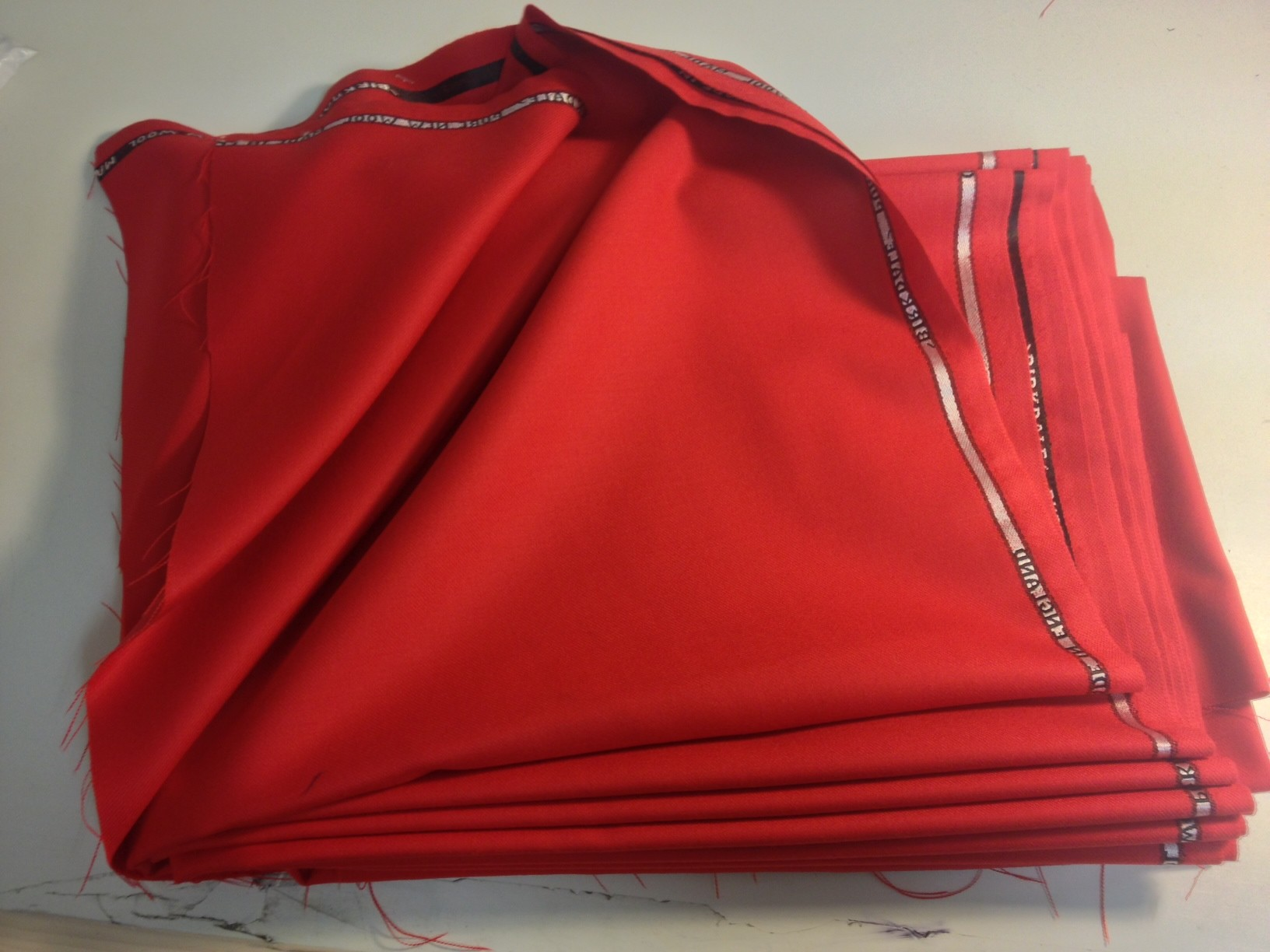 Red Bespoke Suit Fabric
