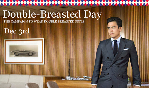 Double Breasted Day - the campaign to wear double breasted suits, Dec 3rd