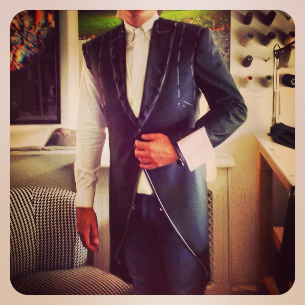 morning suit first fitting