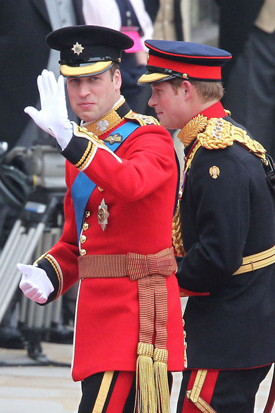 Prince William arriving at wedding