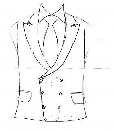 Savile Row Bespoke Waistcoat 261x300 Wedding waistcoat drawn by a customer