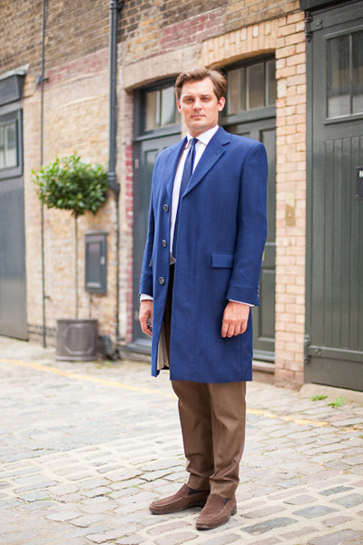 HHSuits 0913 5153 Bespoke Blue British Overcoat