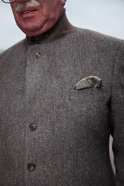 Henry Herbert Tailors SHooting Suit with Sailors Collar1 Harris Tweed & Plus 4s by Henry Herbert Tailors
