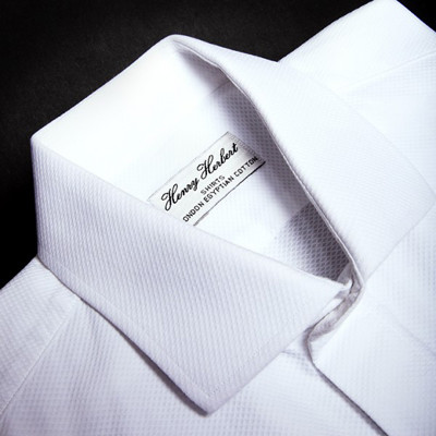 white concealed placket ready to wear Bespoke Dinner Shirts