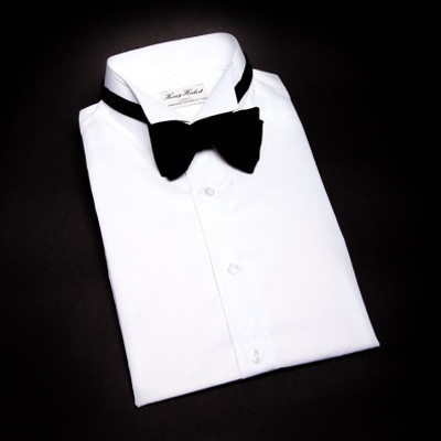 white dinner shirt with wing tip Bespoke Dinner Shirts
