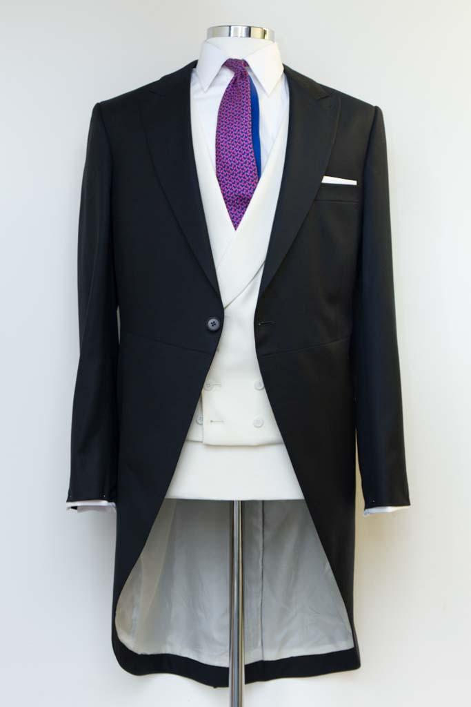 Henry Herbert Bespoke Tail Coat black