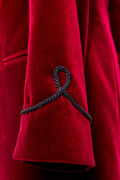 Henry Herbert Bespoke Smoking Jacket Sleeve detail