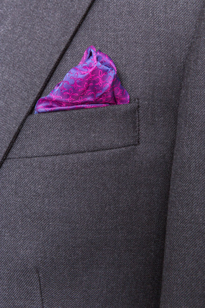 Classic Grey Charcoal Suit Pocket Square