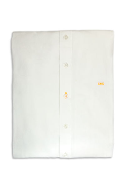 Ready to wear white shirt embroidered