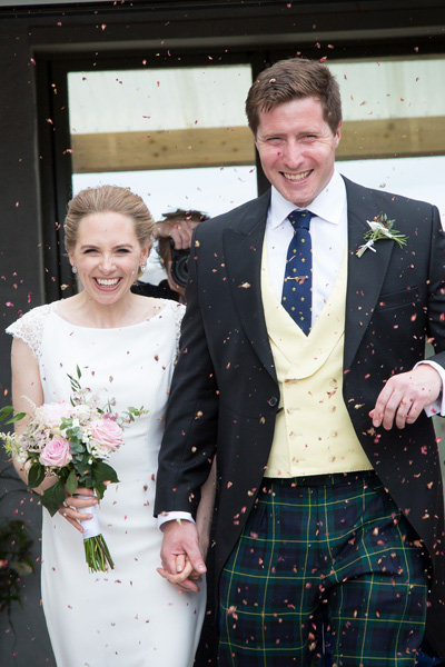 Bespoke Wedding Morning Suit with plaid trousers