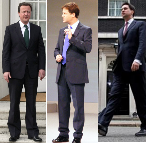Tailored Suits Ed Miliband David Cameron Nick Clegg