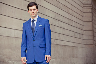 Bespoke summer suits: true blue cotton by Henry Herbert