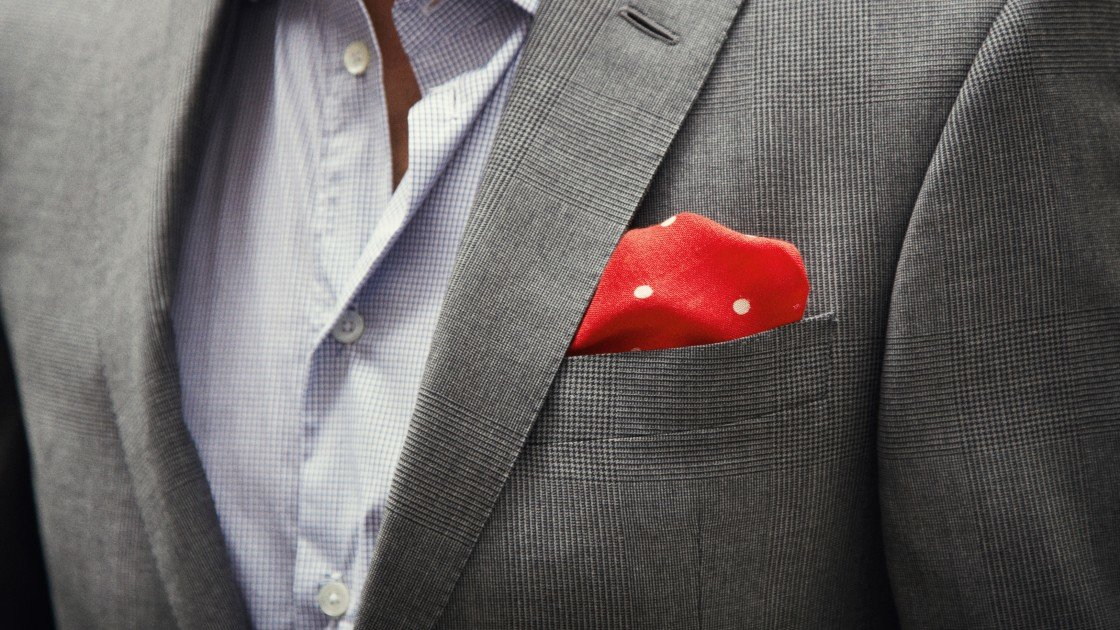 The pocket square bespoke suits by savile row tailors for Can you wear cufflinks on a regular shirt