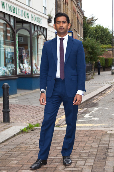Blue Wool Suit Bespoke Tailoring
