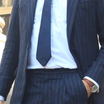 Henry Herbery Bespoke Chalk Stripe Suit