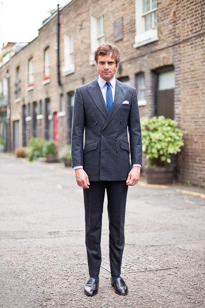 Grey Double-Breasted Suit Tailoring