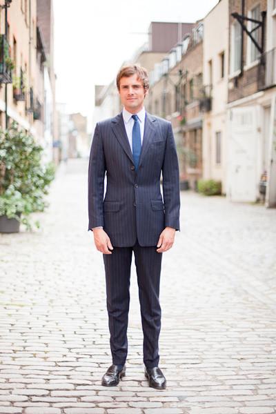 Henry Herbert Three Button Pinstripe Suit