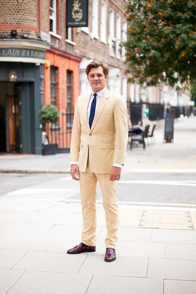 Henry Herbert Cream Suit