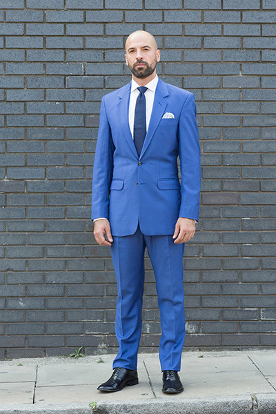 Henry Herbert Bright Blue Suit for Summer