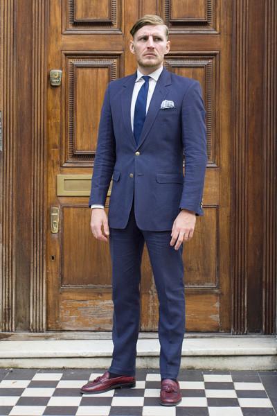 Bespoke Savile Row Tailored British Linen Suit