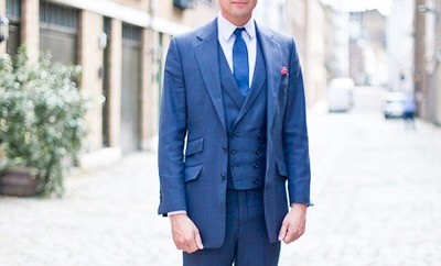 Three-button Suit Bespoke Tailoring