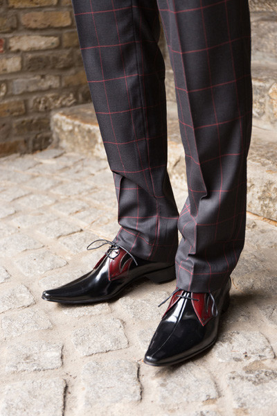 Bespoke Men's Three-Piece Window Pane Suit