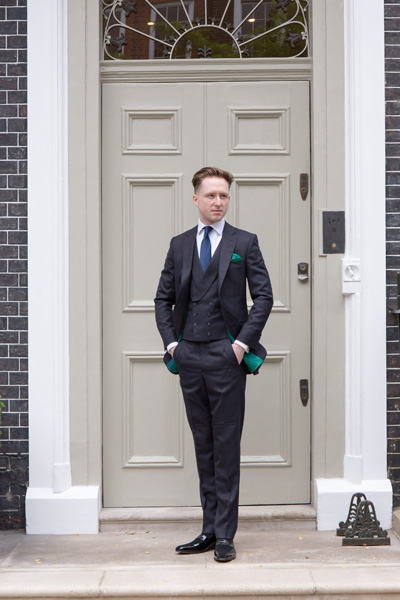 Three-piece Two-button Suit Bespoke Tailoring