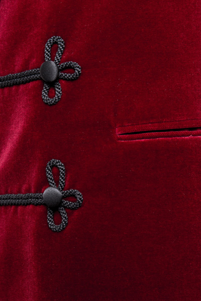 Henry Herbert Bespoke Smoking Jacket Pocket detail