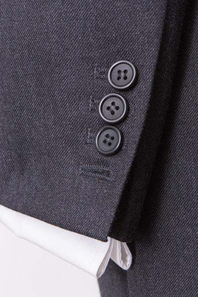 Classic Grey Charcoal Suit Sleeve detail