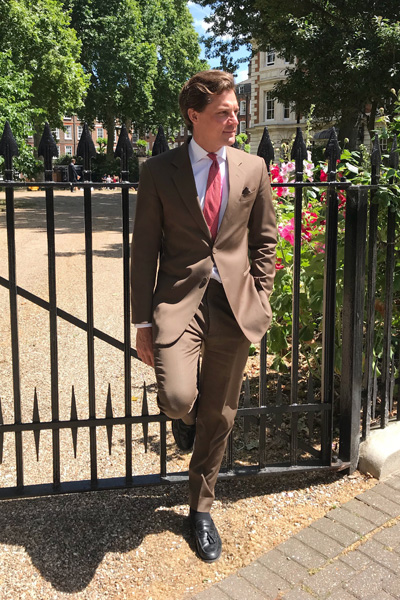 A Bespoke Tailored Brown Suit