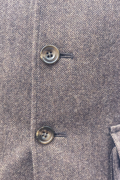 Detail of British Bespoke Tweed Suit for the City