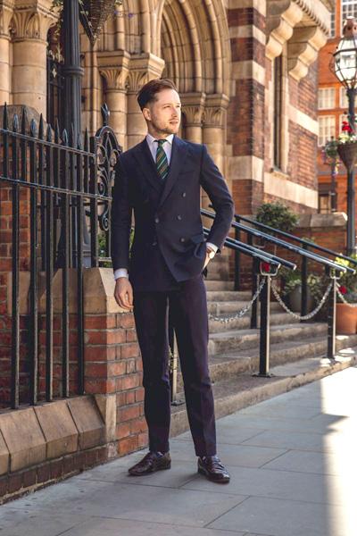 Bespoke Blue Wool Suit